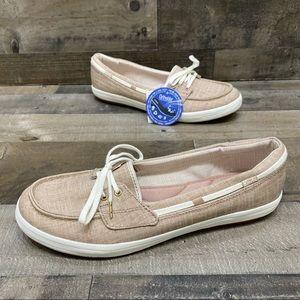 Keds Ortholite Tan Canvas Loafers Size 11 M NWT